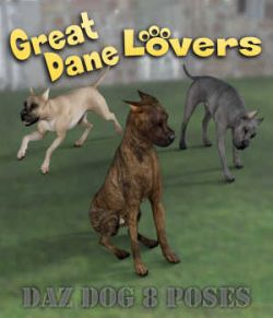 GREAT DANE Lovers Poses for Great Dane Breed