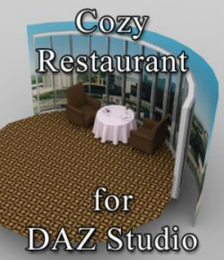 Cozy Restaurant - for DAZ Studio