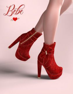 Bebe Bow Booties for Genesis 8 Female(s)