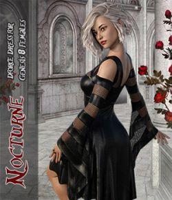 Nocturne - dForce dress for Genesis 8 Females