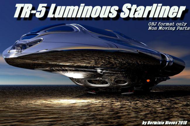 TR-5 Luminous Starliner | Transportation for Poser and Daz Studio
