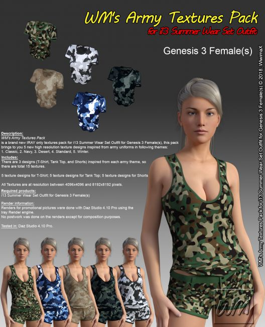 WM's Army Textures Pack for I13 Summer Wear Set Outfit