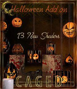 Caged Lanterns- Halloween Add on for DAZ