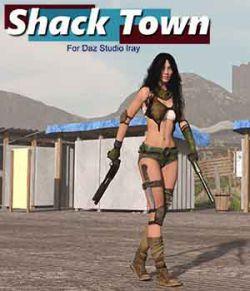 Shack Town for Daz Studio Iray