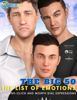 Z The Big 50: The List of Emotions for Genesis 8 Male