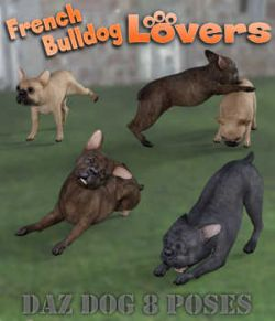 FRENCH BULLDOG Lovers Poses for French Bulldog Breed (Daz Dog 8)