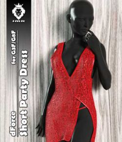 JMR dForce Short Party Dress for G3F and G8F