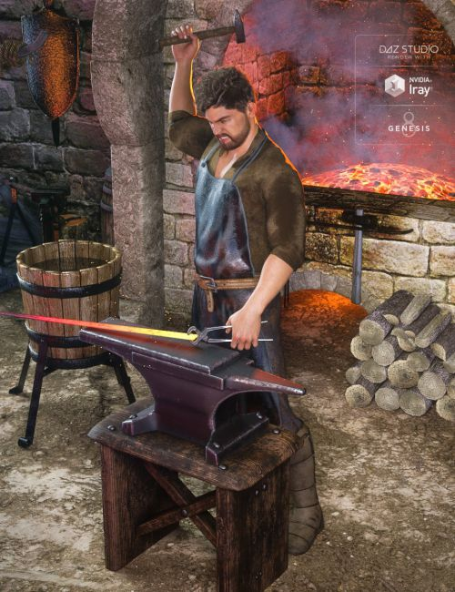 dForce Blacksmith Outfit for Genesis 8 Male(s)