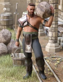 Tribal Warrior King Outfit for Genesis 8 Male(s)