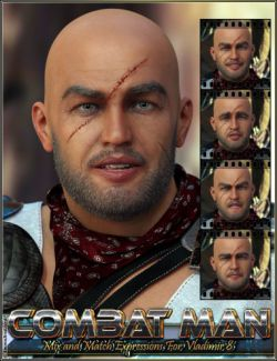 Combat Man Mix And Match Expressions For Vladimir 8 And Genesis 8 Male(s)