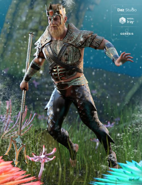 Poseidon Outfit for Genesis 8 Male(s)