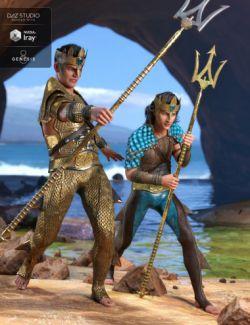 Poseidon Outfit Textures