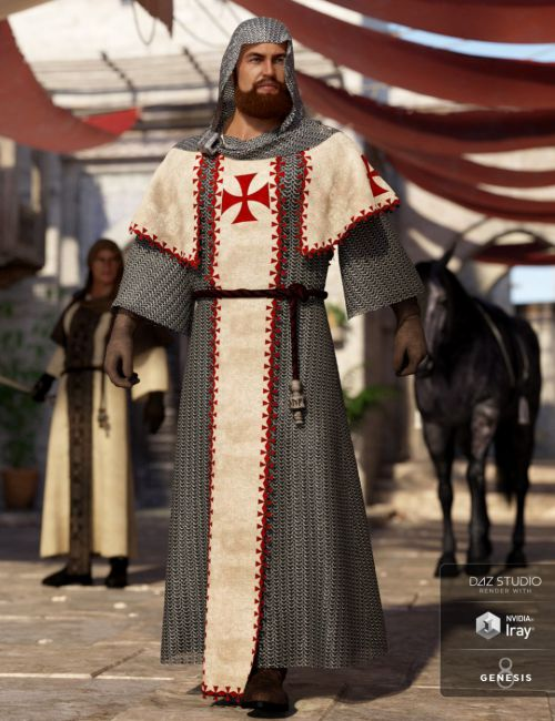 dForce Templar Outfit for Genesis 8 Male(s)