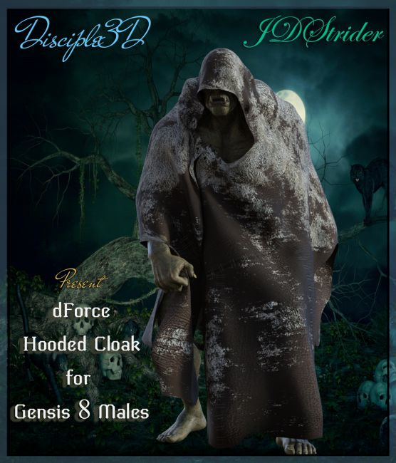 dForce Hooded Cloak for G8M