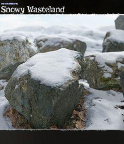 3D Scenery: Snowy Wasteland