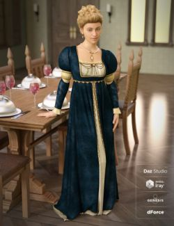 dForce Renaissance Dress for Genesis 8 Female(s)
