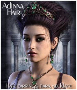 Adinna Hair for Genesis 3 and Genesis 8