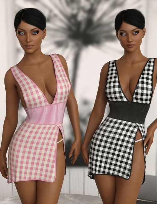 InStyle - JMR dForce Short Party Dress for G3F and G8F