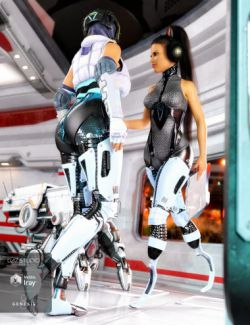ArcTek Cybernetic Legs for Genesis 8 Female