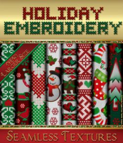 Holiday Embroidery Seamless Textures