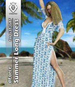 JMR dForce Summer Long Dress for G3F and G8F