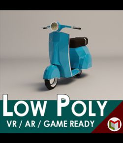 Low-Poly Cartoon Scooter- Extended License