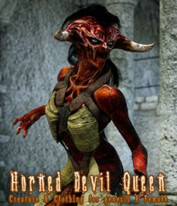Horned Devil Queen for Genesis 8 Female