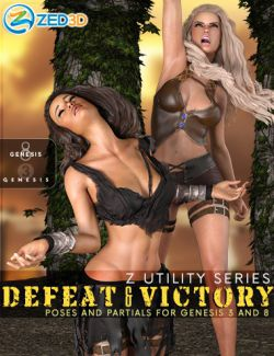 Z Utility Series : Defeat and Victory - Poses with Partials for Genesis 3 and 8