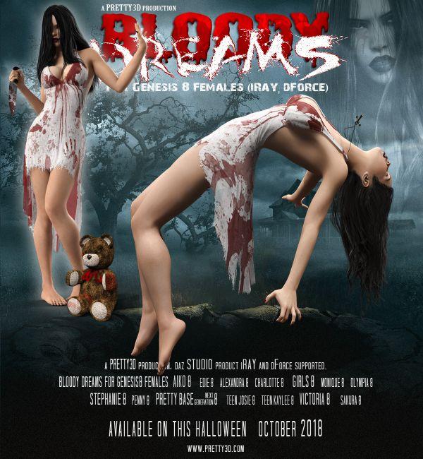 Bloody Dreams for Genesis 8 Females