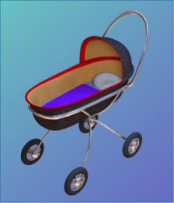 Baby Buggy 3D object