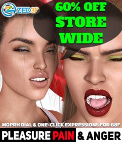 Z Pleasure Pain and Anger - Morph Dial and One-Click Expressions for G8F
