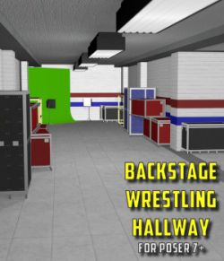 Backstage Wrestling Hallway for Poser 7+