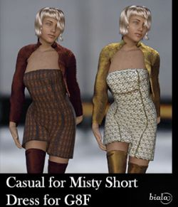 Casual for Misty Short Dress for G8F
