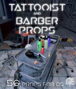 Tattooist and Barber Props DS