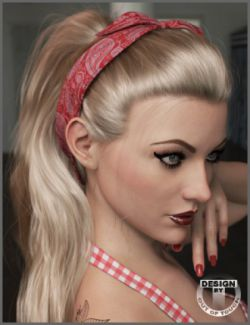 Charlene Hair for Genesis 3 and 8 Female(s)