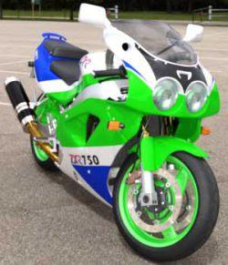 Kawa ZXR750- Motorcycle