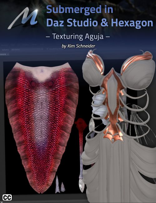 Submerged inside Hexagon and Daz Studio - Part 6: Texturing Aguja