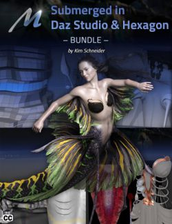 Submerged inside Hexagon and Daz Studio- Bundle