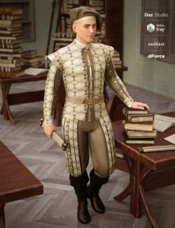 dForce Renaissance Attire for Genesis 8 Male(s)