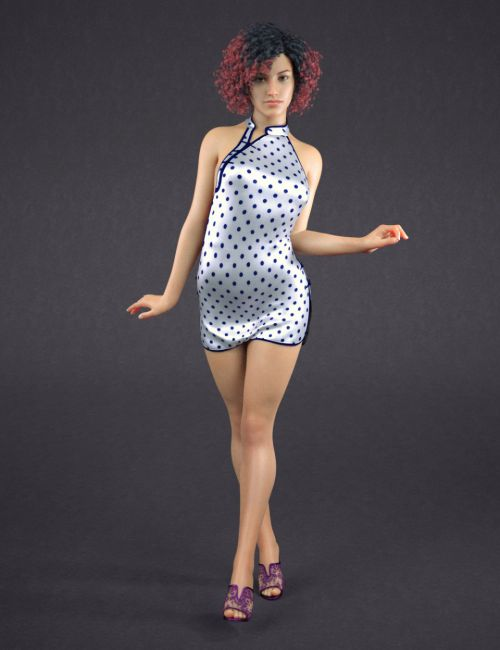 Sexy Cheongsam Outfit for Genesis 8 Female(s)