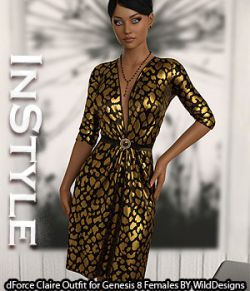 InStyle- dForce Claire Outfit for Genesis 8 Females
