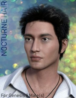 Nocturne Hair for Genesis 8 Male(s)