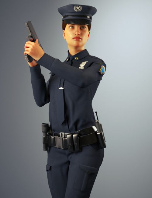 dForce Police Officer Outfit for Genesis 8 Female(s)