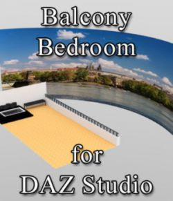 Balcony Bathroom - for DAZ Studio