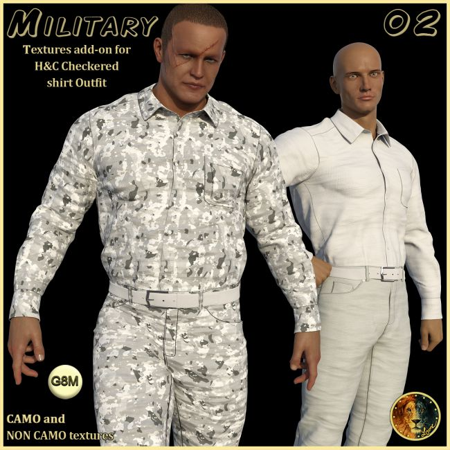 Military 02 for H&C Checkered Shirt Outfit for G8M