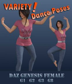 VARIETY! Dance Poses for Female Geez - G1F, G2F, G3F, G8F)