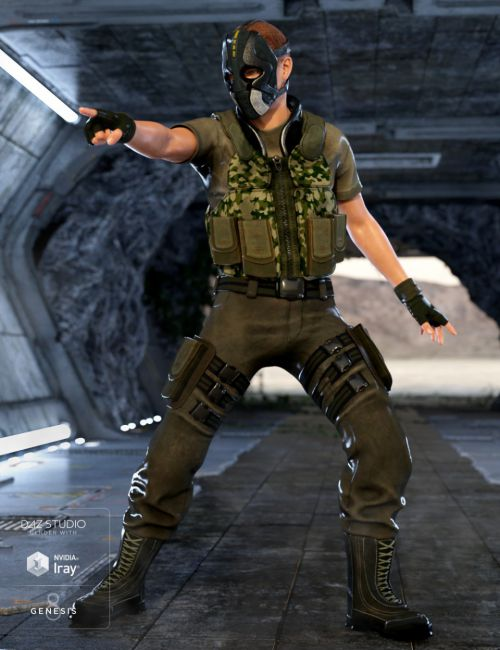 Renegade Soldier Outfit for Genesis 8 Male(s)