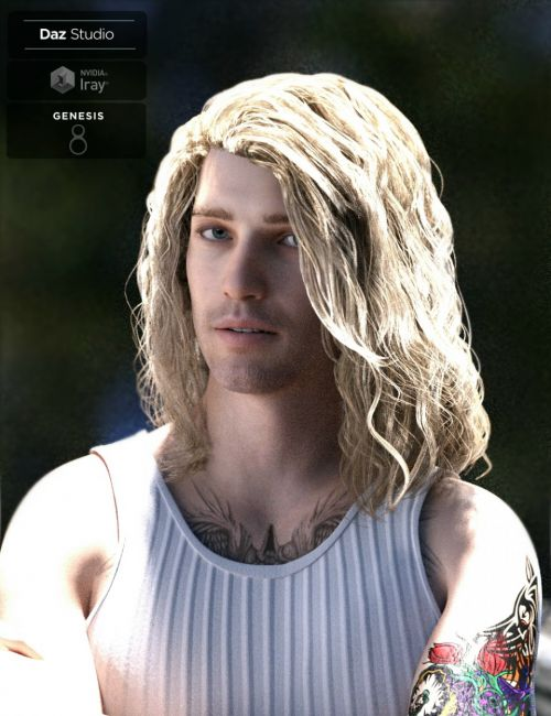 Viktor Long Locks for Genesis 3 and 8