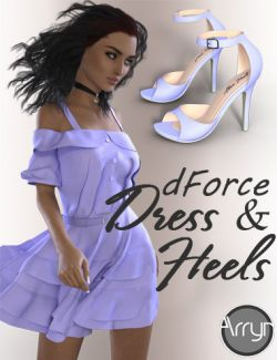 dForce Alexa Outfit for Genesis 8 Female(s)