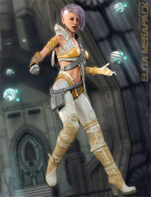 Elita Cyberpunk Megapack for Genesis 8 Female(s)